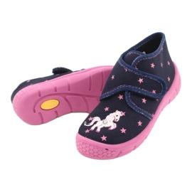 Befado obuwie dziecięce 538P015 granatowe różowe wielokolorowe 4