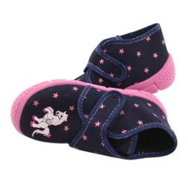 Befado obuwie dziecięce 538P015 granatowe różowe wielokolorowe 5