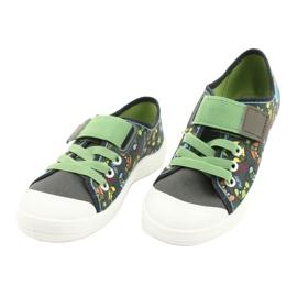 Befado obuwie dziecięce  251Y164 szare wielokolorowe zielone 3