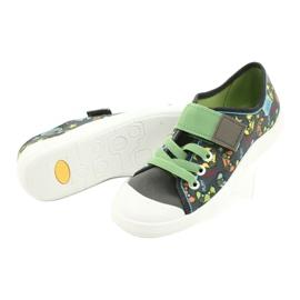 Befado obuwie dziecięce  251Y164 szare wielokolorowe zielone 4