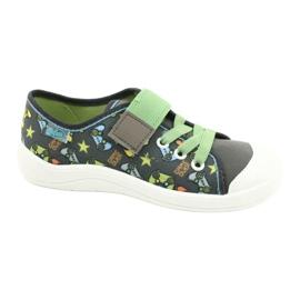 Befado obuwie dziecięce  251Y164 szare wielokolorowe zielone 1