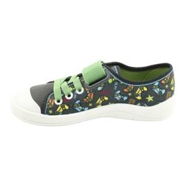 Befado obuwie dziecięce  251Y164 szare wielokolorowe zielone 2