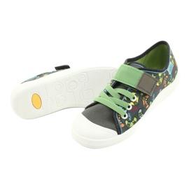 Befado obuwie dziecięce  251Y164 szare wielokolorowe zielone 5