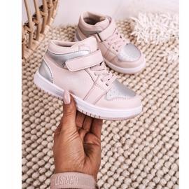 Apawwa Dziecięce Sportowe Buty Różowo Srebrne Madison różowe srebrny 3