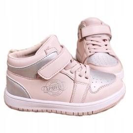 Apawwa Dziecięce Sportowe Buty Różowo Srebrne Madison różowe srebrny 4