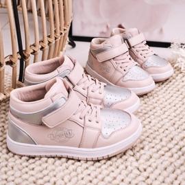 Apawwa Dziecięce Sportowe Buty Różowo Srebrne Madison różowe srebrny 7