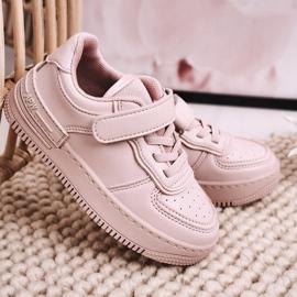 Apawwa Dziecięce Sportowe Buty Na Rzep Różowe Airy 2
