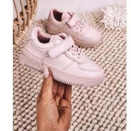 Apawwa Dziecięce Sportowe Buty Na Rzep Różowe Airy 4