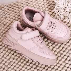 Apawwa Dziecięce Sportowe Buty Na Rzep Różowe Airy 5