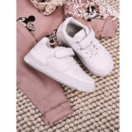 Apawwa Dziecięce Sportowe Buty Na Rzep Białe Airy 7