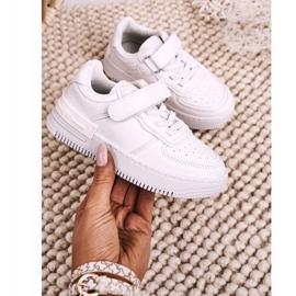Apawwa Dziecięce Sportowe Buty Na Rzep Białe Airy 4