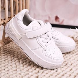 Apawwa Dziecięce Sportowe Buty Na Rzep Białe Airy 3