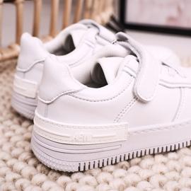 Apawwa Dziecięce Sportowe Buty Na Rzep Białe Airy 6