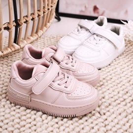 Apawwa Dziecięce Sportowe Buty Na Rzep Białe Airy 8
