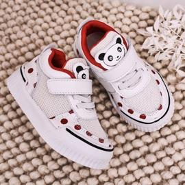 Apawwa Dziecięce Sportowe Buty Z Pandą Biało Czerwone Chico białe 6