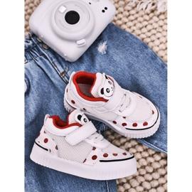 Apawwa Dziecięce Sportowe Buty Z Pandą Biało Czerwone Chico białe 1
