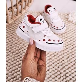 Apawwa Dziecięce Sportowe Buty Z Pandą Biało Czerwone Chico białe 3