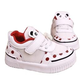 Apawwa Dziecięce Sportowe Buty Z Pandą Biało Czerwone Chico białe 4
