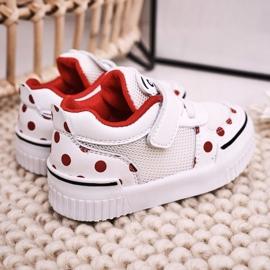 Apawwa Dziecięce Sportowe Buty Z Pandą Biało Czerwone Chico białe 5