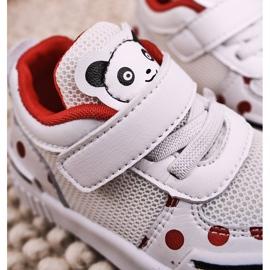 Apawwa Dziecięce Sportowe Buty Z Pandą Biało Czerwone Chico białe 7