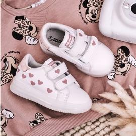 Apawwa Dziecięce Sportowe Buty Ze Świecącą Podeszwą Led Biało-Różowe Boomer białe 4