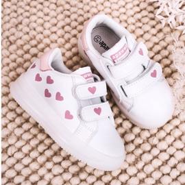 Apawwa Dziecięce Sportowe Buty Ze Świecącą Podeszwą Led Biało-Różowe Boomer białe 5