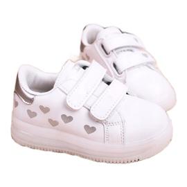 Apawwa Dziecięce Sportowe Buty Ze Świecącą Podeszwą Led Biało-Srebrne Boomer białe srebrny 4