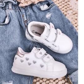 Apawwa Dziecięce Sportowe Buty Ze Świecącą Podeszwą Led Biało-Srebrne Boomer białe srebrny 1