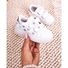 Apawwa Dziecięce Sportowe Buty Ze Świecącą Podeszwą Led Biało-Srebrne Boomer białe srebrny 3