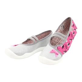 Befado obuwie dziecięce 116Y288 różowe szare wielokolorowe 3