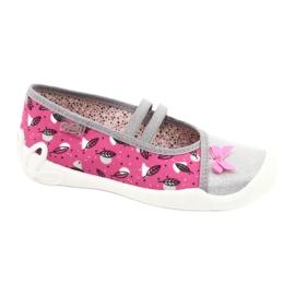 Befado obuwie dziecięce 116Y288 różowe szare wielokolorowe 1