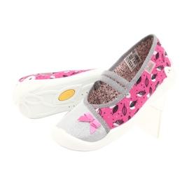 Befado obuwie dziecięce 116Y288 różowe szare wielokolorowe 4