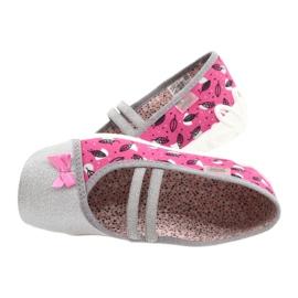 Befado obuwie dziecięce 116Y288 różowe szare wielokolorowe 5