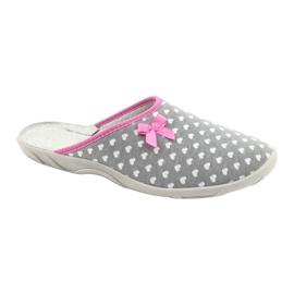 Befado obuwie damskie pu 235D174 białe różowe szare 1