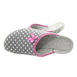 Befado obuwie damskie pu 235D174 białe różowe szare 5
