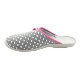 Befado obuwie damskie pu 235D174 białe różowe szare 2