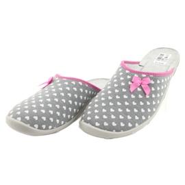Befado obuwie damskie pu 235D174 białe różowe szare 3