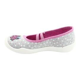 Befado obuwie dziecięce  116X285 różowe szare 2