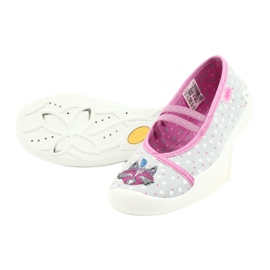 Befado obuwie dziecięce  116X285 różowe szare 4
