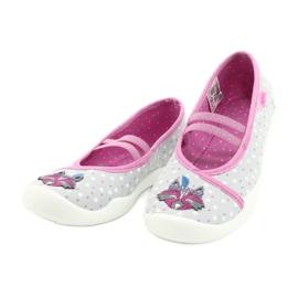 Befado obuwie dziecięce  116X285 różowe szare 3