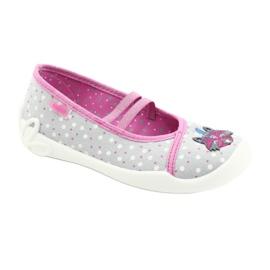 Befado obuwie dziecięce  116X285 różowe szare 1