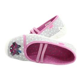 Befado obuwie dziecięce  116X285 różowe szare 5