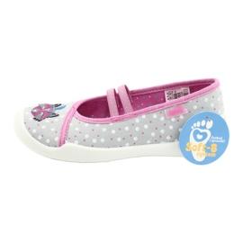Befado obuwie dziecięce  116X285 różowe szare 6