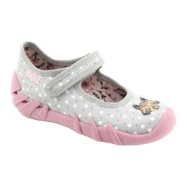 Befado obuwie dziecięce  109P208 różowe szare wielokolorowe 1