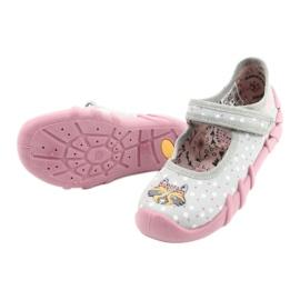 Befado obuwie dziecięce  109P208 różowe szare wielokolorowe 4