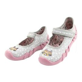 Befado obuwie dziecięce  109P208 różowe szare wielokolorowe 3