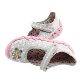Befado obuwie dziecięce  109P208 różowe szare wielokolorowe 5