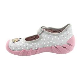 Befado obuwie dziecięce  109P208 różowe szare wielokolorowe 2