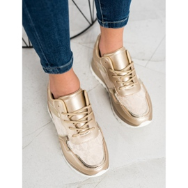 Bestelle Stylowe Sneakersy beżowy 1