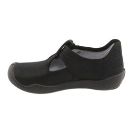 Befado  obuwie dziecięce blanka czarna 115X006 czarne srebrny 4